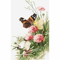 Papillons sur les fleurs  938  Letistitch