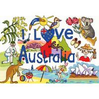 I Love Australia - Bothy Threads - Kit Aïda - Code Bothy XL4