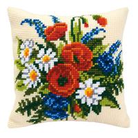 Coussin à broder Fleurs des champs - Vervaco PN-0008549