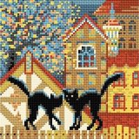 La ville et les chats   AM0049  Riolis