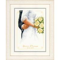 Bouquet de mariée avec roses - Vervaco PN-0149274