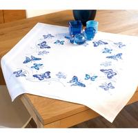 Nappe à broder Papillons bleus - Vervaco  0145088