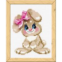 Bébé lapin - Riolis HB-105 - Kit broderie facile pour enfant ou débutant