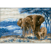 Éléphants dans la Savane  1144  Riolis