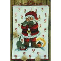 Père Noël et Chats  34-3265  Permin of Copenhagen