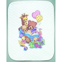 Couverture piquée Teddy et ses amis - Dimensions 72915