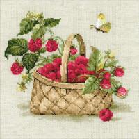 Riolis 1448 Basket with raspberries - Kit broderie en vente sur www.la-brodeuse.com
