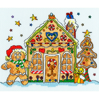 Sew Dinky Gingerbread House - XSD6  Bothy Threads - Kit  point de croix
