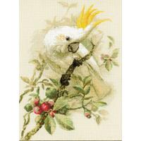 White cockatoo Riolis 1362 - Kit broderie point de croix sur www.la-brodeuse.com