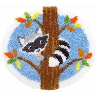 Raton laveur sur un arbre - Tapis au point noué - Vervaco PN-0155993