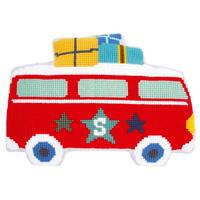 En vacances en bus - Coussin au point noué - Vervaco PN-0150422