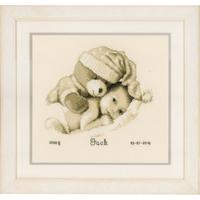 Bébé avec nounours - Tableau de Naissance - Vervaco PN-0155574