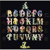 Alphabet floral - Thea Gouverneur 2025.05 - Aïda noire