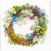 Couronne avec fleurs  - Riolis 1536