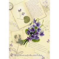 Lettres d'amour. violette - 0039PT