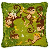 Coussin Jungle - Riolis 1534