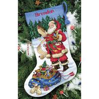Père Noel examinant sa liste  8645  DIMENSIONS