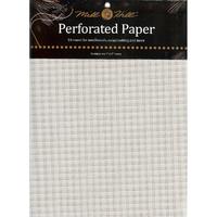 Papier cartonné perforé blanc - lot de 2 feuilles - Mill Hill - Code MH-PP1