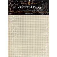 Papier cartonné perforé Ecru - Mill Hill - Lot de 2 feuilles - Code MH-PP2