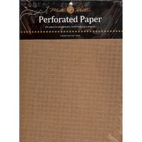 Papier cartonné perforé Antique Brown - Mill Hill - Lot de 2 feuilles - Code MH-PP3