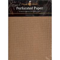 Papier cartonné perforé Antique Brown - Mill Hill -PP3