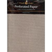 Papier cartonné perforé Argent - Mill Hill - Lot de 2 feuilles - Code MH-PP6