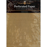 Papier cartonné perforé Or - Mill Hill - Lot de 2 feuilles - Code MH-PP7