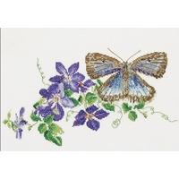 Thea Gouverneur  438  Papillon et Clématite