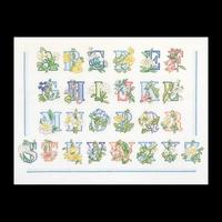 Thea Gouverneur  2089  Floral Alphabet  Lin