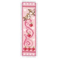 Vervaco  0143783  Marque-page  Oiseaux et pommes rose