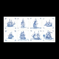 Thea Gouverneur  482A  Antique Dutch Tiles  Delft  Aïda