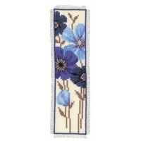 Vervaco  0144263  Marque-page  Fleurs bleues décoratives