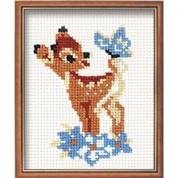 Bambi et le papillon - Riolis - Broderie facile - Code Riolis-210