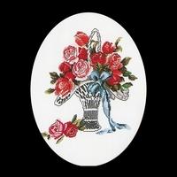 Thea Gouverneur  926  Poésie  Panier de roses  Lin
