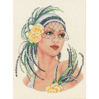 VERVACO  0012112  La dame avec roses jaunes