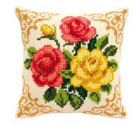 Coussin point de croix Bouquet de Roses - Vervaco PN-0008575