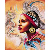 BRODERIE  LANARTE  0167128  FEMME AFRICAINE