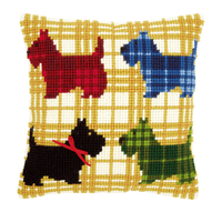 Coussin point de croix Chiens Colorés - Vervaco PN-0150016