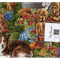 COUPON  PATCHWORK  A35 CHIENS