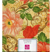 Coupon  patchwork  A46  fleurs