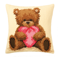 Coussin point de croix Popcorn the Bear I love You - Vervaco PN-0011090