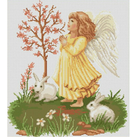 ANGELOT FILLE ET LAPINS  LUCA-S  B261
