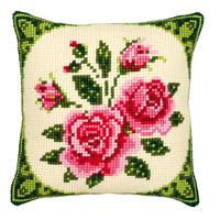 Coussin point de croix Bouquet de Roses - Vervaco PN-0008521