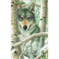 Loup en hiver  3228  Dimensions