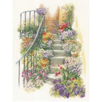 Belle escalier fleuris  0169680  LANARTE
