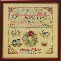Sampler Anna Thies 1859 - Permin 39-5301 - Kit lin