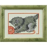Chaton jouant avec une pelote de laine - Permin 92-0145