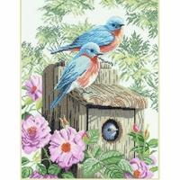 Oiseaux bleu de jardin  0008197  LANARTE