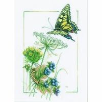 Papillons et fleurs  0021622  LANARTE
