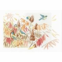 Oiseaux sur des graminée  0154322  Lanarte
